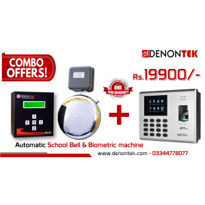 Combo Offer Automatic Bell System + ZKteco K40 Biometric (Original)