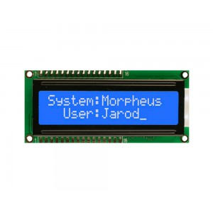 16x2 Lcd White on Blue