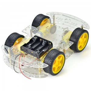 4 Four Wheels Robotics Smart Car Chassis adjustable