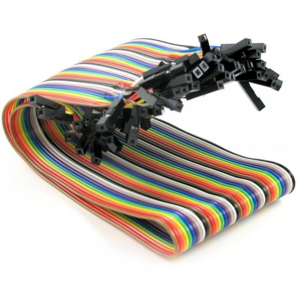 """Premium Female/Female Jumper Wires - 40 x 12"""""""
